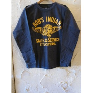 INDIAN MOTORCYCLE インディアンモーターサイクル/BOB'S INDIAN L/S T NAVY