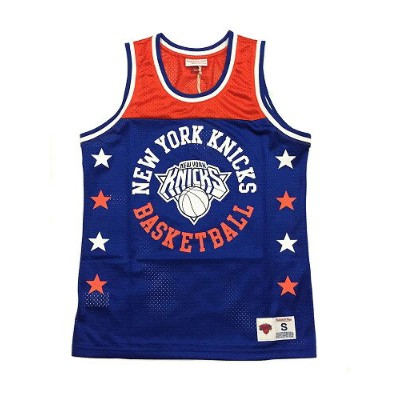 【MITCHELL&NESS】 NBA KNICKS CHAMPIONSHIP GAME MESH TANK TOP [BLUE-ORANGE] / ミッチェル&ネス ニックスチャンピオンシップ...