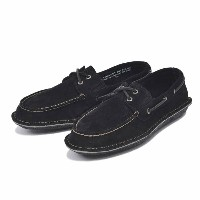 【SPERRY TOPSIDER】 スペリートップサイダー デッキシューズ HUNTINGTON 2-EYE SUEDE ハンティントン 2アイレット スウェード STS12226 BLACK