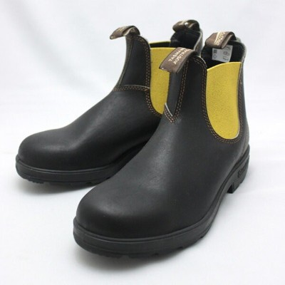 Blundstone(ブランドストーン)BS1436 SIDE GORE BOOTS Brown×YELLOW ブーツ シューズ
