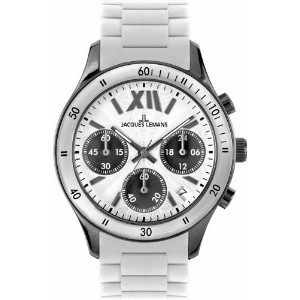 Jacques Lemans ジャックルマン レディース腕時計 Women's 1-1587P Rome Sports Sport Analog Chronograph with Silicone...