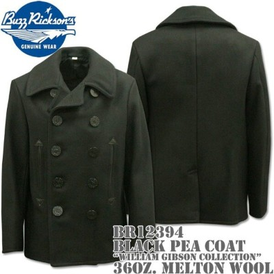 BUZZ RICKSON'S バズリクソンズType BLACK PEA COAT 36oz Wool WILLIAM GIBSON COLLECTIONBR12394
