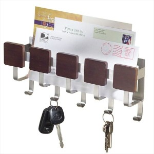 インターデザイン Formbu Wall Mount Key & Mail Rack, Espresso Brushed Stainless Steel 【 キーラック メールラック...