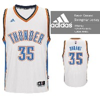 adidas Oklahoma City THUNDER NBA KEVIN DURANT Swingman Jersey Authentic White バスケ レプリカ ユニフォーム ジャージ...