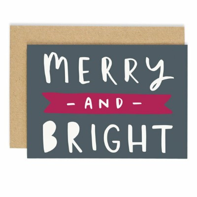 OLD ENGLISH CO. | MERRY AND BRIGHT CHRISTMAS CARD | クリスマス | グリーティングカード