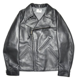"GANGSTERVILLE MOTORCYCLE - JACKET ""COW HIDE"" (BLACK) ギャングスタービル カウハイド ライダース/レザー ジャケット/GLADHAND..."