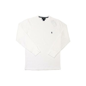 POLO RALPH LAUREN Waffle-Knit Thermal L/S T-SHIRT (White×Navy)ポロラルフローレン/長袖サーマルT-シャツ/白