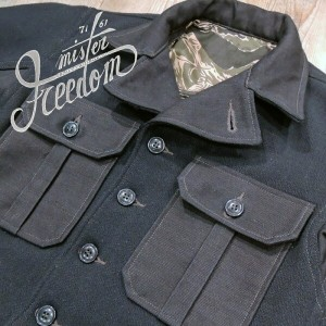 SUGAR CANE×Mr.FREEDOM/ SAIGON CWBOY 31.7oz. WOOL MELTON M1941 UTILITY JACKET/SC13433-128)NAVY訳アリ...