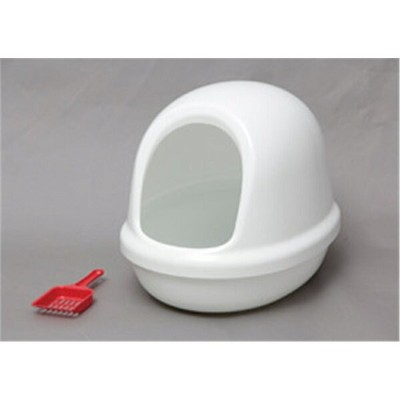 トイレ用品 cat toilet ペット用品 ネコのトイレ フルカバー カラー:しろ