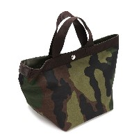 HERVE CHAPELIER エルベシャプリエ トートバッグ 707W CABAS MOYEN FOND CARRE CAMOUFLAGE FORET KH【送料無料】【楽ギフ_包装】