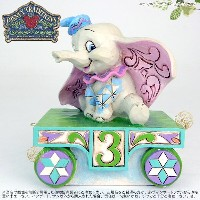 ジムショア ダンボ 誕生日列車3号車 ディズニー 4043657 Birthday Train Dumbo-Dumbo Train Number Three Figurine JimShore □