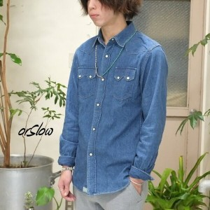 orSlow(オアスロウ)/WESTERN SHIRTS -(95) Denim 2year wash -