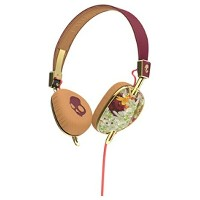 【送料無料】 SKULLCANDY [マイク付]ヘッドホン (Knockout Floral/Burgundy/Rose Gold Mic3) J5AVGM395 1.3mコード[KNOCKOUTFL...
