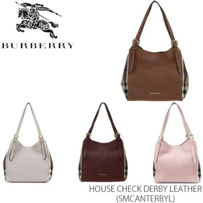 【送料無料】【並行輸入品】【BURBERRY-バーバリー】SM CANTERBY L House Check Derby Leather
