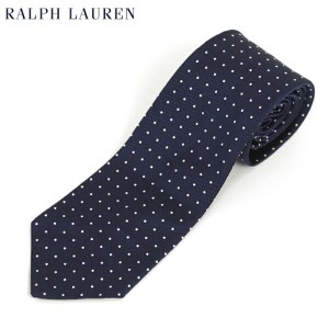 POLO by Ralph Lauren Silk Necktie (NAVY) US ポロ ラルフローレン シルク ネクタイ ドット柄