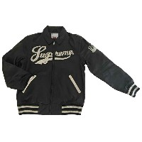 ≪新品≫ Supreme 16SS Uptown Studded Leather Varsity Jacket レザージャケット 黒 Mサイズ 新品