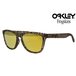 OAKLEY FROGSKINS SUNGLASSES 「URBAN JUNGLE COLLECTION」 OO9245-24 ASIAN FITMATTE SEPIA/24K IRIDIUMオークリ...