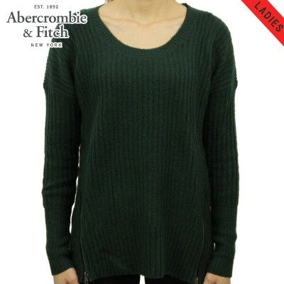 【15%OFFセール 8/17 10:00~8/23 9:59】 アバクロ Abercrombie&Fitch 正規品 レディース セーター RIBBED ZIP SWEATER 150-490...