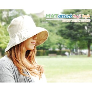 HAT ATTACK ハット アタックWASHED COTTON CRUSHERHATATTACK プレゼント UVカット 対策 帽子 日よけ