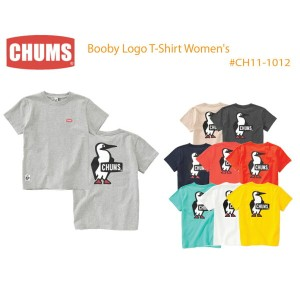 CHUMS チャムス CH11-1012 Booby Logo T-Shirt Women's ブービーロゴTシャツ  ※取り寄せ品
