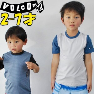VOLCOM ボルコム キッズ ラッシュガード 【Y【Stripe Heather S/S Rashguard Little Youth 】Kids 3-7才向け【半袖】  Volcom ...