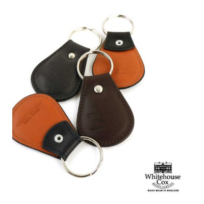 "Whitehouse Cox(ホワイトハウスコックス)ホースハイド キーホルダー キーリング ""KEY FOB(DERBY COLLECTION)""・S0668-D-1831802【メール便可能商品..."