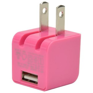 Japan Trust Technology USB充電器(1A) cube AC mini ピンク CUBEAC110PK [CUBEAC110PK]【KK9N0D18P】