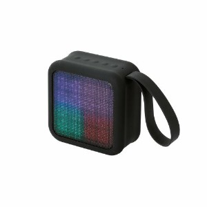 Bluetooth ワイヤレススピーカー ELECOM エレコム LED Bluetooth Wireless Speaker【LBT-SPLD01AVBK】