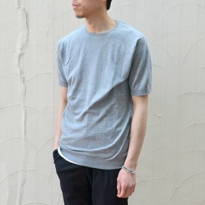 JOHN SMEDLEY(ジョン・スメドレー)/ BELDEN MENS T-SHIRT -SILVER-