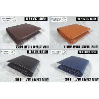【SALE】【recurrence/リクレンス】Genuine Leather Compact Wallet/天然皮革・二つ折り財布 -全4色-【コンパクト!】
