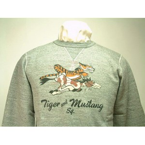 """Buzz Rickson's バズリクソンズ SET IN CREW SWEAT SHIRTS""""TIGER and MUSTANG SQ.""""送料無料 【smtb-TK】"""