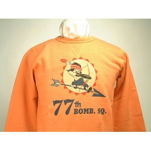 "Buzz Rickson's バズリクソンズ SET IN CREW SWEAT SHIRTS""77th BOMB.SQ.""送料無料 【smtb-TK】"