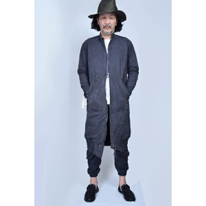 40%バーゲン! GREG LAUREN グレッグローレンLONG CHARCOAL TENT FLIGHT STUDIO JACKET