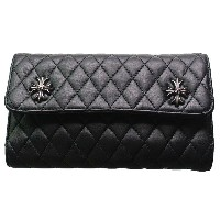 CHROME HEARTS WAVE WALLET #4 QUILTED 3 SNAP CH PLUS クロムハーツ ウォレット WAVE WALLET #4 キルト 3 SNAP CHプラス ...