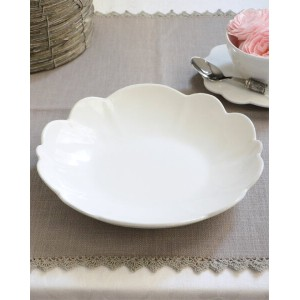 【OUTLET CT31 訳あり品】PETALE WHITE ペタル スーププレート×単品【COTE TABLE(コテ・ターブル)】
