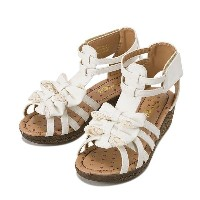 ジュニア 【CHARDAS】 チャルダス KIDS JR RIBBON GLADIATOR(17-23) CS-2512 16SM WHT
