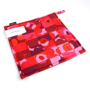 マリメッコ marimekko 067386 330 red/pink MINI RUUTU-UNIKKO POT HOLDER 鍋敷 ポットホルダー
