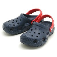 crocs swiftwater clog kids 202607-4BAクロックス スウィフトウォーター クロッグ キッズnavy/flame