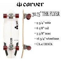 "CARVER SKATEBOARD,カーバースケートボード/30.75""THE FLYER/CX.4 TRACK/フライヤー/CHANNEL ISLANDS・アルメリックコラボ/サーフスケート ..."