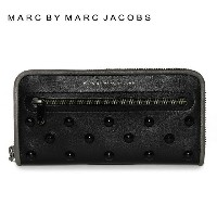 マークバイマークジェイコブス 財布 MARC BY MARC JACOBS 長財布 MBMJ M0006020 Black Multi ブラック Luna Studs Slim Zip Around...