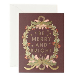 RIFLE PAPER CO. | BE MERRY AND BRIGHT WREATH | クリスマス | グリーティングカード