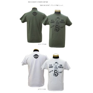 "BUZZ RICKSON'S バズリクソンズ BUZZ RICKSON'S×PEANUTS""KEEP EM FLYING""プリント半袖Tシャツ2016年モデルBR77288-16SS..."