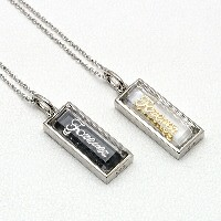 entiere/アンティエーレ シルバー×クリスタルペアネックレス 「CRIStAL NIGHt/Forever」 P6186-M-L 【ギフトOK】【smtb-k】【楽ギフ_包装】