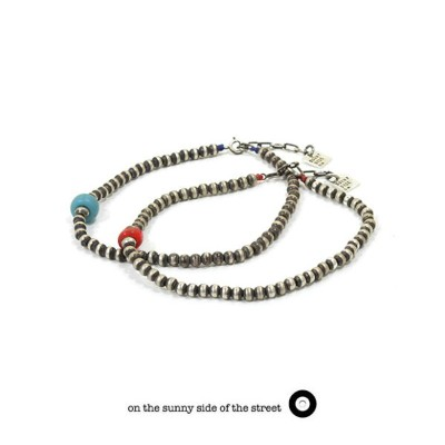 on the sunny side of the street オンザサニーサイドオブザストリート610-326 Small Silver Beads Anklet シルバー メタル ビーズ...