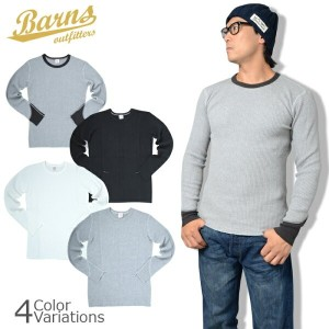 BARNS OUT FITTERS(バーンズ アウトフィッターズ) BIG WAFFLE THERMAL VINTAGE LONG SLEEVE CREW NECK TEE SHIRTS サーマル...