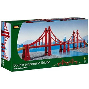 BRIO ブリオ 木製 レール 橋 33683 Rail Double Suspension Bridge