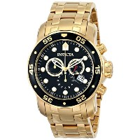 インビクタ 時計 インヴィクタ メンズ 腕時計 Invicta Men's 0072 Pro Diver Collection Chronograph 18k Gold-Plated Watch