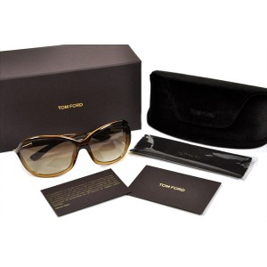 TOM FORD【トムフォード ジェニファー 薄茶色/グラディエント ブラウン FT0008-50F】Jennifer Transparent Brown/Gradient Brown