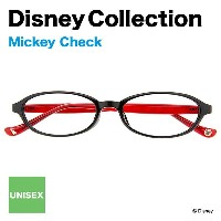 Disney Collection Happiness Line B-1(ブラック)【ディズニーコレクション/ミッキーマウス/Mickey Mouse/チェック/赤/レッド/黒縁眼鏡/くろぶちメガネ...