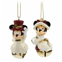 Disney(ディズニー)Minnie and Mickey Mouse Victorian Bell Ornament Setミニーとミッキーの鐘飾りセット